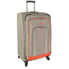 Luggage Tags Collections | Nautica Timoneer 29 Inch Expandable Spinner GreyOrange One Size *** More info could be found at the image url. Note:It is Affiliate Link to Amazon. #ExclusiveLuggageTags