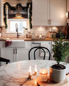 Anyone else thinking of ways to keep the cozy hygge feeling up all year? I am never anxious to put it away, I love the extra sparkle. Decor, Kitchen Remodel, Kitchen Decor, Home Remodeling, Cheap Home Decor, Kitchen, House Interior, Kitchen Dining, Sweet Home
