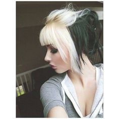 Edgy-Chic Emo Hairstyles for Girls ❤ liked on Polyvore featuring hair