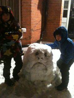 #GrumpytheSnowman #MuswellHill #London #UK #Winter