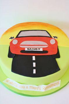 Retirement Cakes New York City - Mini Cooper Car Custom Cakes