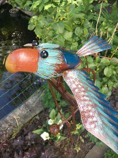 Tuinsteker blauw uil   Windmolen & tuinsteker   Steeg80 moestuin enzo Fish, Pets, Pisces, Animals And Pets