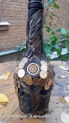 Декор предметов Аппликация из скрученных жгутиков продолжение бутылочек Салфетки Скорлупа яичная Тесто соленое фото 1