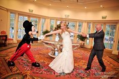 Oh this is SO happening at my wedding - Walt Disney World Wedding Photos