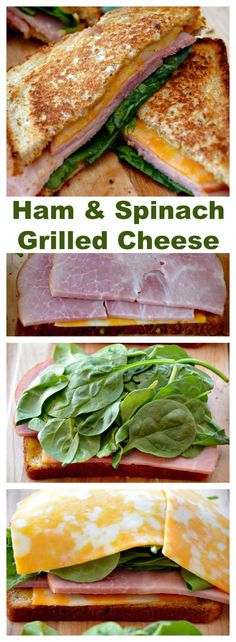 #Ham and #Spinach #Grilled #Cheese #Grown-Up Grilled Cheese