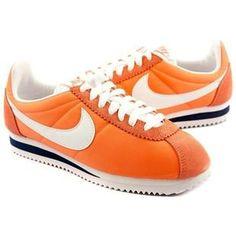 best service 1dfa1 aa901 Orange White Women Nike Cortez Oxford Cloth Shoes Nike Classic Cortez, Nike  Cortez, Nike
