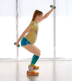 Pregnancy Workout...all you need is a light pair of dumb bells...keeps all things tight and toned while your tummy expands