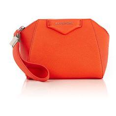 Givenchy Women's Antigona Sugar Cosmetic Pouch ($695) ❤ liked on Polyvore featuring beauty products, beauty accessories, bags & cases, orange and givenchy