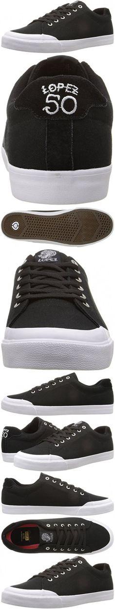 C1RCA Men's AL50R Skateboarding Shoe, Black/Gum, 5 M US