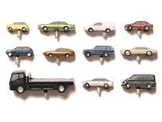 Autos Metall/PUR, farbig bemalt, 1:200
