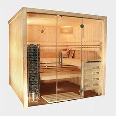 #sauna Iso-Sauna Made in Germany. Mit der Front aus klarem Sicherheitsglas ein toller Hingucker in jedem Raum.