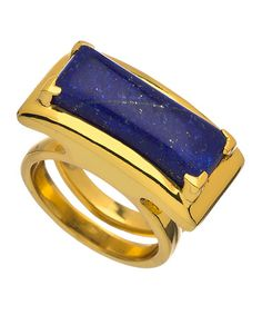 Julie Vos Mondrian Gold and Lapis Ring #maxandchloe