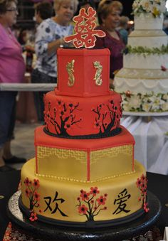 Asian inspired cake. I love Asian influence in everyday things. :) GORGEOUS.