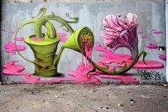 Graffiti by Songe, Paris