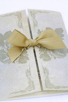 Victorian Rose wedding invitation gatefold