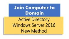 Join computer to domain Active Directory, Windows Server, Join