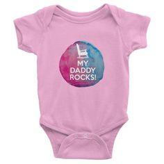 My Daddy Rocks Designer baby onesie, clothes