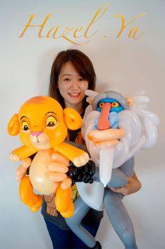 Sculpture Ballon, Sculpture Art, Sculptures, Lion King Theme, Twisting Balloons, Disney Balloons, Ballon Decorations, Balloon Modelling, Baby Balloon