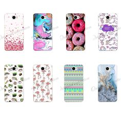 For Phone Case Huawei Y5 II Case Cover Huawei Y5 II Case TPU Silicone Transparent 3D Relief Back Cover For Huawei Y5 2 Y5II Case