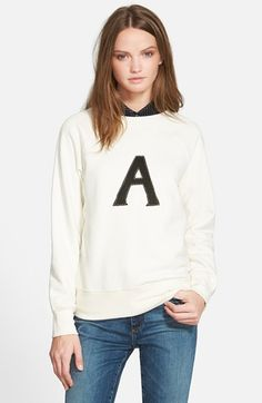 Alexa Chung for AG 'Scarlet' Sweatshirt available at #Nordstrom