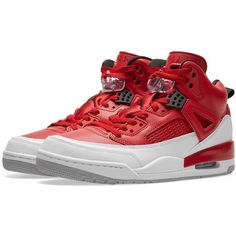 Nike Jordan Spizike ($175) ❤ liked on Polyvore featuring shoes, mesh material shoes, elephant print shoes, elephant shoes, leather upper shoes and nike shoes