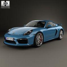 Nice Porsche: 3D model of Porsche Cayman GT4 2014  Porsche 3D Models