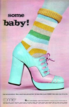Connie platform shoes, 1973. Some baby!