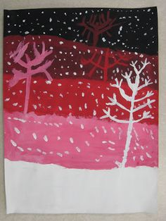 4th Grade Value Snowy Landscapes