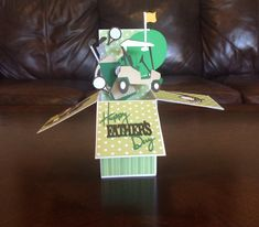 3-D Explosion, Birthday, Father's Day, Pop- Up Box Card, Gift Card Holder