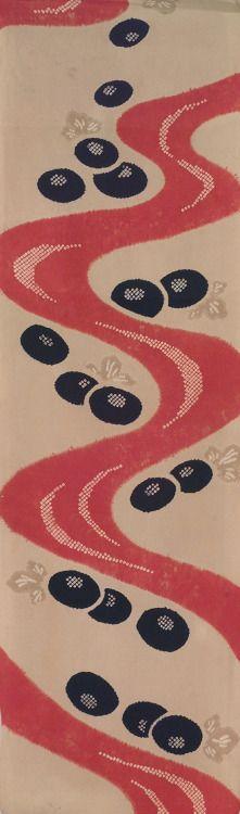 Silk kimono panel with shibori technique. 1960-1980, Japan. Yorke Antique Textiles