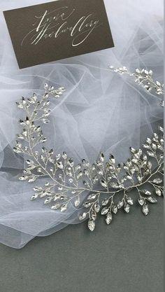 Diy Headband, Wedding Headband, Bridal Hair Pins, Wedding Hair Jewelry, Wedding Hair Pieces, Handmade Wire Jewelry, Diy Crafts Jewelry, Metal Comb, Hair Vine
