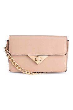 Mała torebka na ramię - Pudrowobeżowy - ONA   H&M PL 1