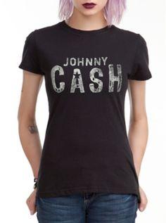 Johnny Cash Logo Girls T-Shirt