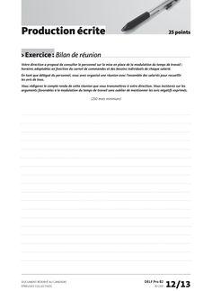 Production écrite - Exercice