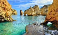 In fact, the beach of Ponta da Piedade is a hidden treasure in the middle of the Algarve Eden. Description from ecotoursportugal.com. I searched for this on bing.com/images