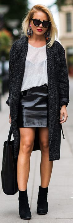Leather Skirt Outfit