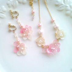 紫陽花classy weddingイヤリング/ピアス(pink)