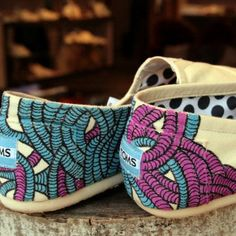 Hand-painted TOMS.