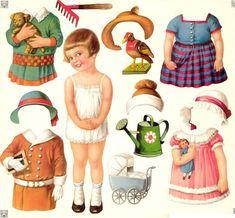 vintage poupées à découper - chantalou16 vintage