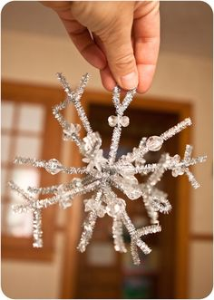 Snowflake with pipe cleaners