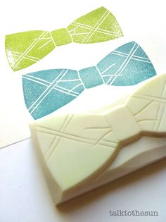 bow tie rubber stamp