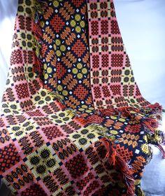 Welsh Wool Tapestry Blanket