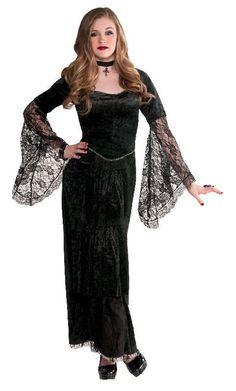 979d25ba #Barnekostymer - Kostyme - Sort Magi - 10 - 12 år. Gotisk Vampyrkostyme til