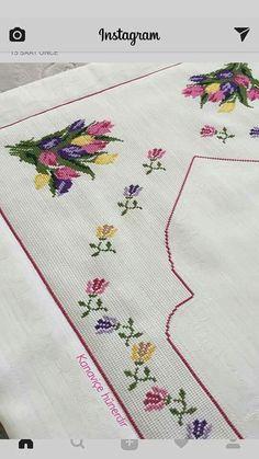 This Pin was discovered by Hül Funny Cross Stitch Patterns, Easy Crochet Patterns, Cross Stitch Designs, Cross Stitch Landscape, Prayer Rug, Yarn Shop, Modern Cross Stitch, Bargello, Embroidery Kits