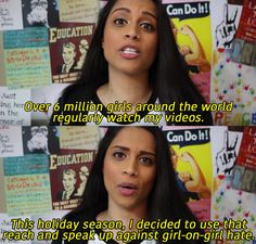 """Canadian YouTube sensation Lilly """"Superwoman"""" Singh has started a campaign against girl-on-girl hate. 