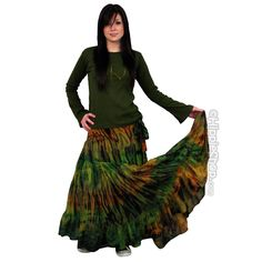 Tie Dye Mudmee Wrap Skirt on Sale for $44.95 at HippieShop.com