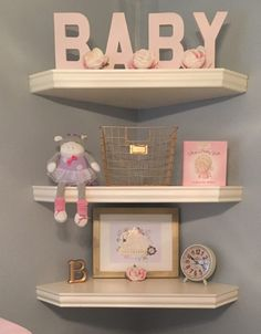 Best Ideas For Baby Nursery Organization Small Spaces Bookcases Baby Room Decor, Nursery Room, Room Baby, Diy Girl Nursery Decor, Blush Nursery, Rose Nursery, Princess Nursery, Girl Decor, Small Nurseries