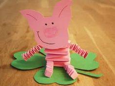 Glücksschwein mit Kleeblatt und drei andere Mehr Lucky pig with shamrock and three other Pig Crafts, Diy Crafts To Do, Animal Crafts, Crafts For Kids, Fete Saint Patrick, Diy Silvester, Pig Art, Origami Animals, Origami Box