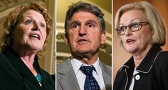 The 2014 Republican rout left just five red-state Democrats in the Senate — and three of them are thinking about an early exit, decisions that could complicate Democrats' plans to take back the chamber in 2016 and beyond. Democratic Sens. Joe Manchin of West Virginia, Heidi Heitkamp of North Dakota and Claire McCaskill of Missouri, all...