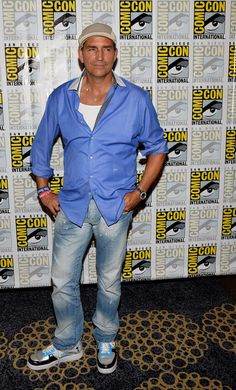 """Actor Jim Caviezel attends the """"Person of Interest"""" press line during Comic-Con International 2013 at the Hilton San Diego Bayfront Hotel on..."""